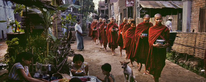 rangoon and monks