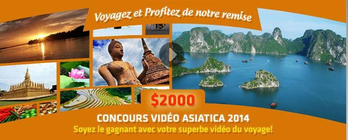 Voyagez ! Filmez et gagnez 2000 $ !